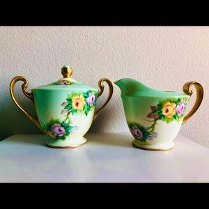 Vintage made in Japan creamer and sugar set